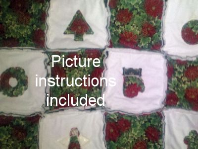 Christmas Rag Quilt Embroidery Machine Designs