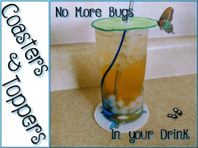 Drink Toppers and Coasters Embroidery Machine Designs