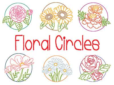 Floral Circles Embroidery Machine Designs