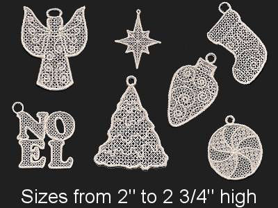 Borders Ornaments Free Standing Lace Embroidery Machine Design Sets
