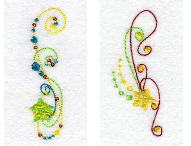 Glittering Stars Embroidery Machine Designs