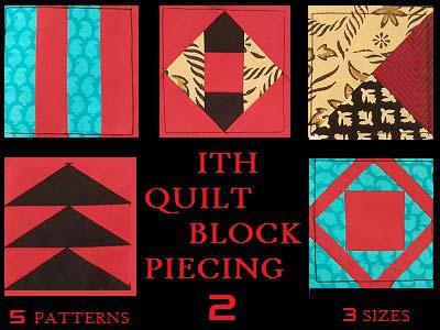 In The Hoop Quilt Block Piecing 2 Machine Embroidery Designs