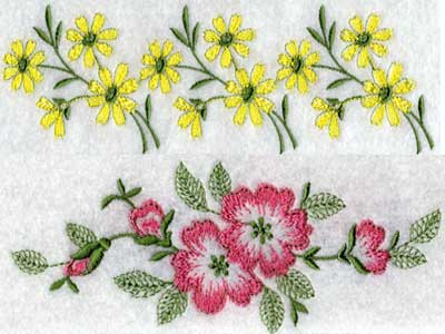 Flowers And Plants Filled Design Embroidery Machine Design Sets Page 1