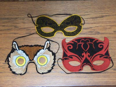 Halloween and Mardi Gras Masks Embroidery Machine Designs