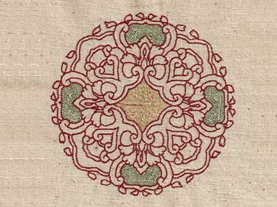 Persian Quilt Circles Embroidery Machine Designs