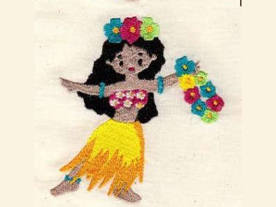 Playful Polynesian Kids Embroidery Machine Designs