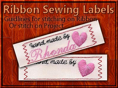 Ribbon Sewing Labels Machine Embroidery Designs