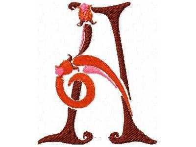 Monica Vinader  AZ Alphabet Letter rose goldplated