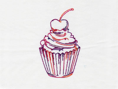 Fancy RW Cupcakes Embroidery Machine Designs