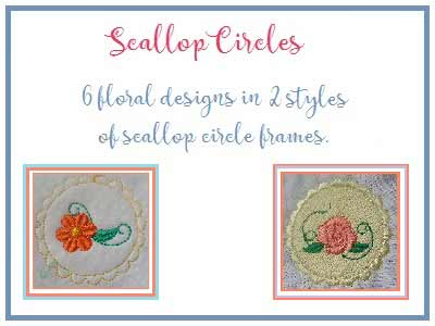Scalloped Circles Embroidery Machine Designs