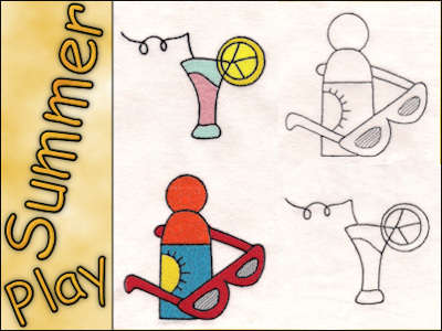 Summer Play Machine Embroidery Designs
