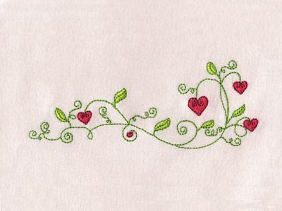 Embroidery Machine Designs - Valentine Flowers Borders Set
