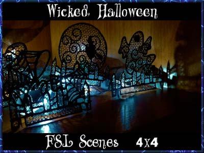 Embroidery Machine Designs - Wicked Halloween Scenes Set