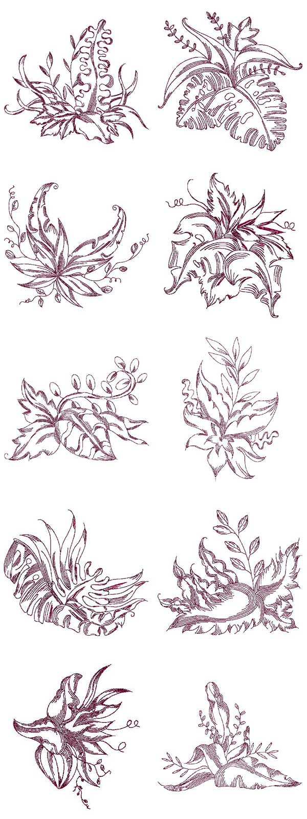 Floral Fantasy Embroidery Machine Design Details