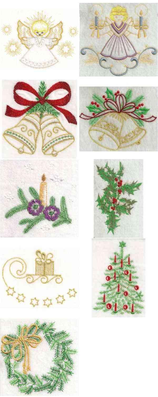 Embroidery machine designs a bonnie christmas set