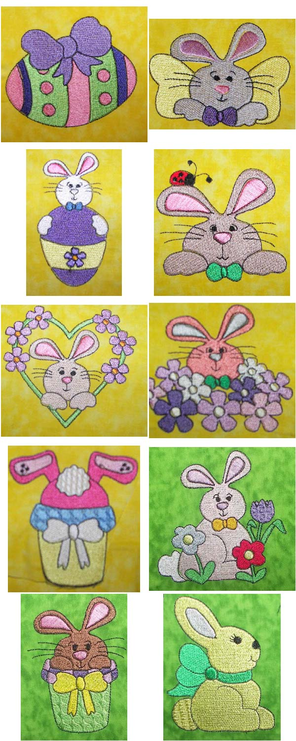 Bunny Tales Embroidery Machine Design Details