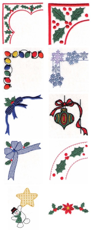 Christmas Border Design.Embroidery Machine Designs Christmas Borders Set