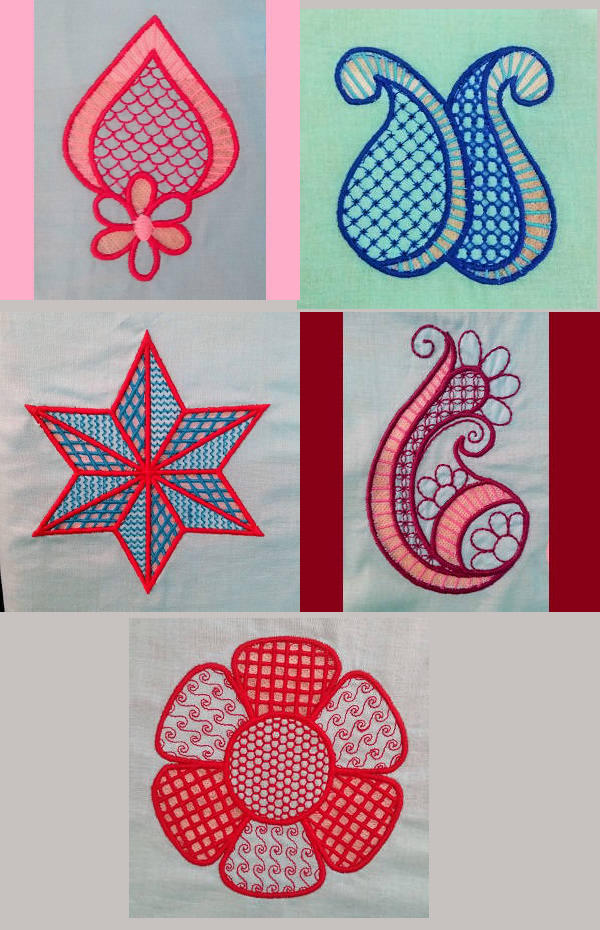 Embroidery machine designs cutwork set
