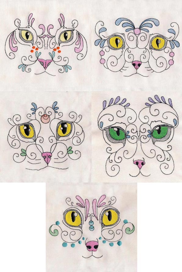 Exotic Felines Embroidery Machine Design Details