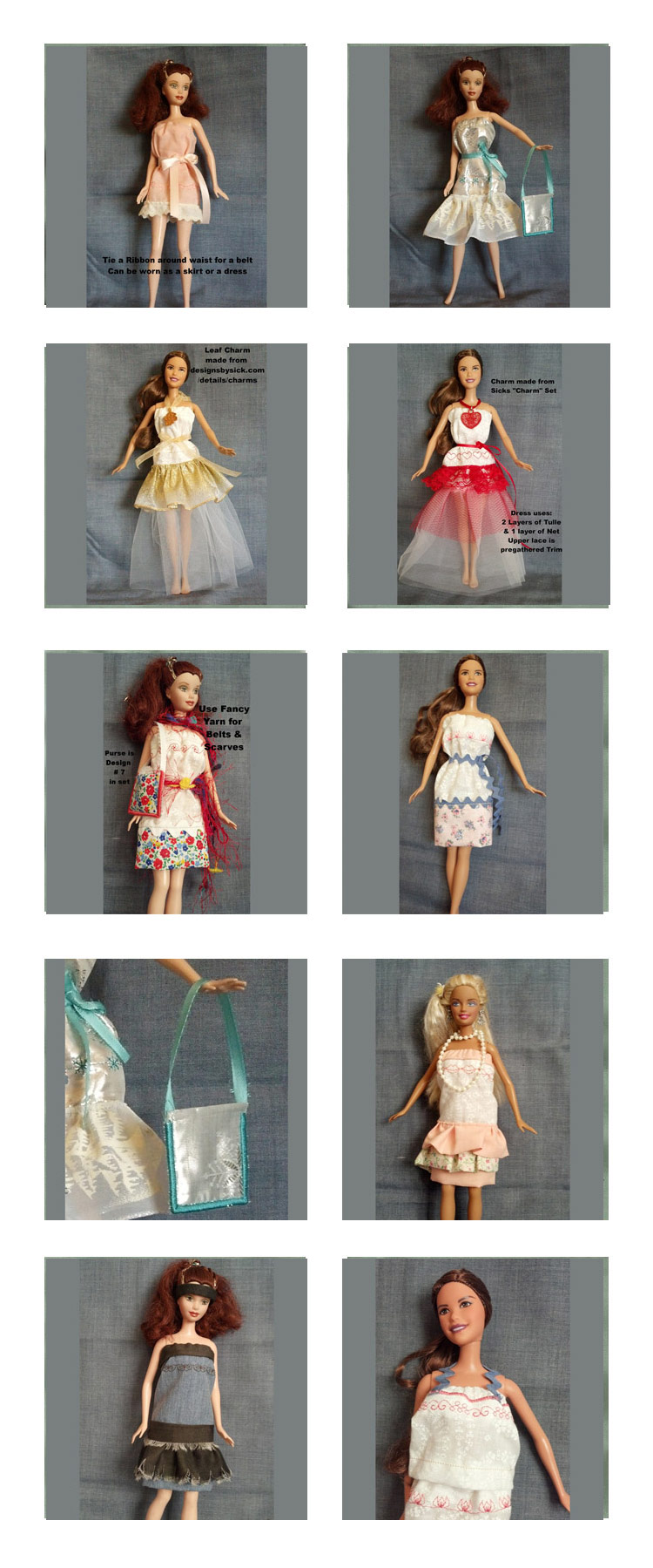 Fashion Doll Clothes Embroidery Machine Design Details