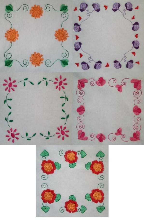 Flower Blocks Quilt Embroidery Machine Design Details