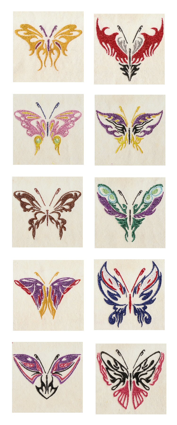Galatic Butterflies Embroidery Machine Design Details