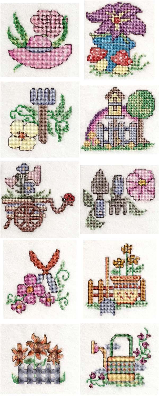 Embroidery machine designs garden time x stitch set for Garden embroidery designs