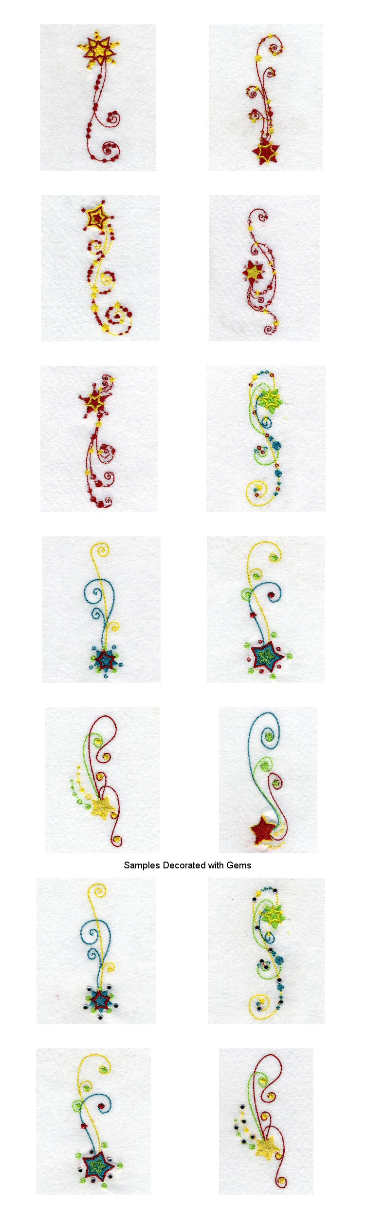 Glittering Stars Embroidery Machine Design Details