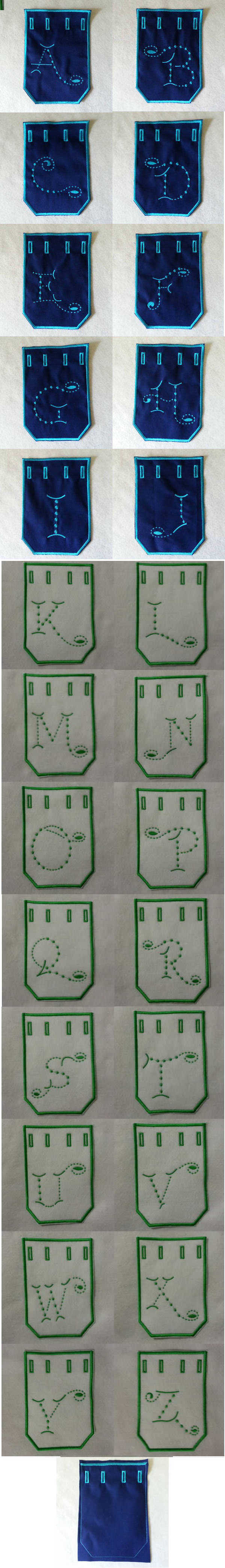 Candlewick Alpha Bags for Him Embroidery Machine Design Details