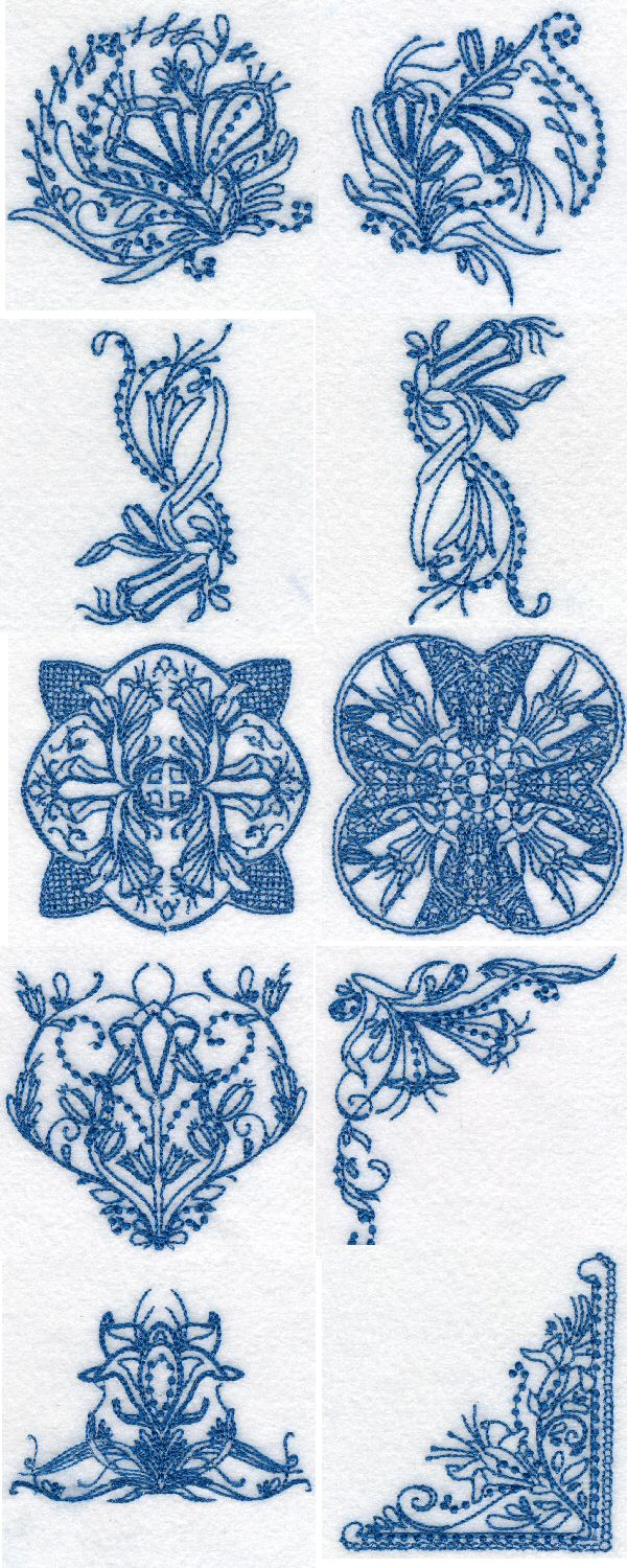 Line Art Embroidery : Embroidery machine designs easter lily line art set