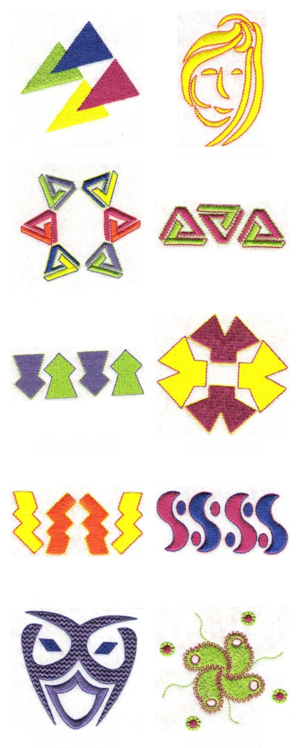 Embroidery machine designs more abstract set