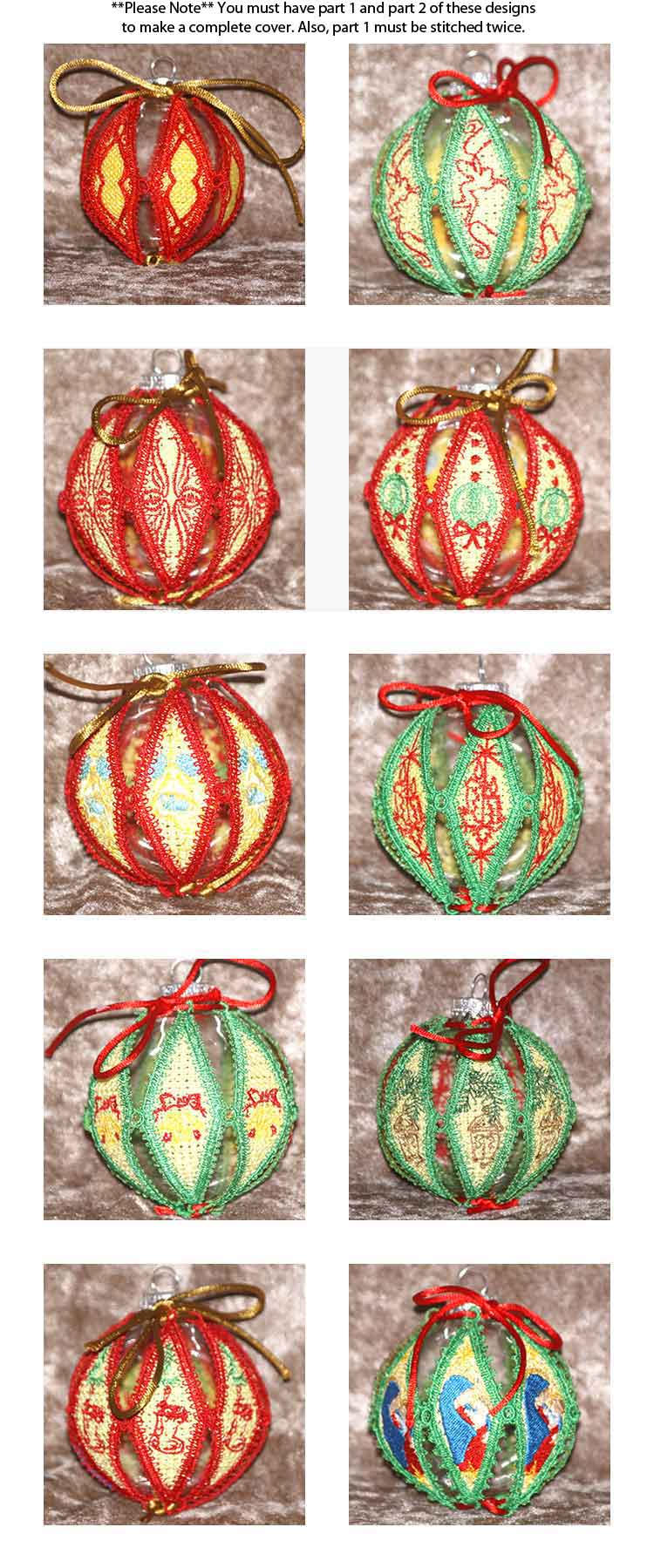 Machine embroidery lace christmas ornaments for Design ornaments