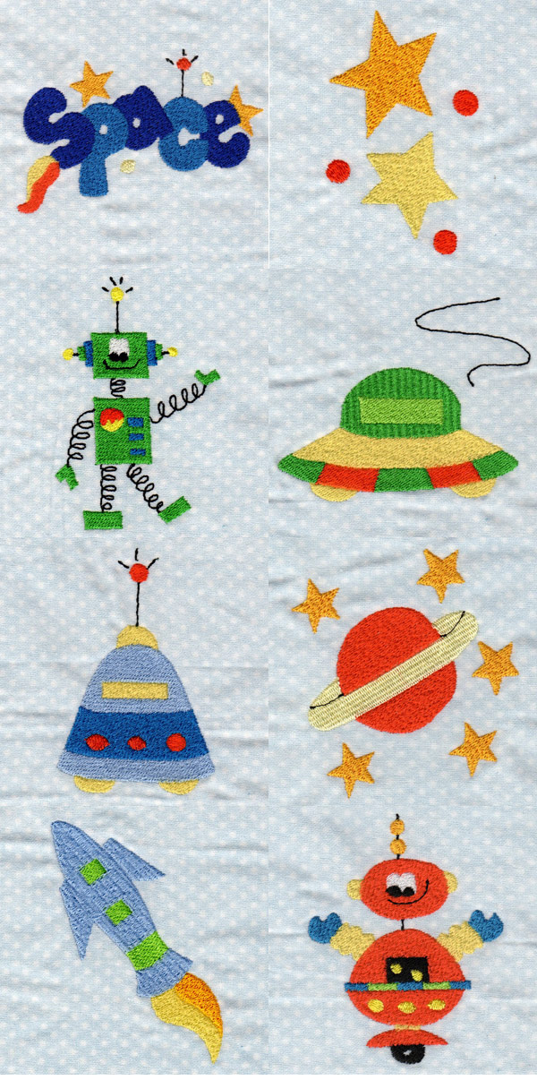 Embroidery machine designs outer space set for Outer space design richmond