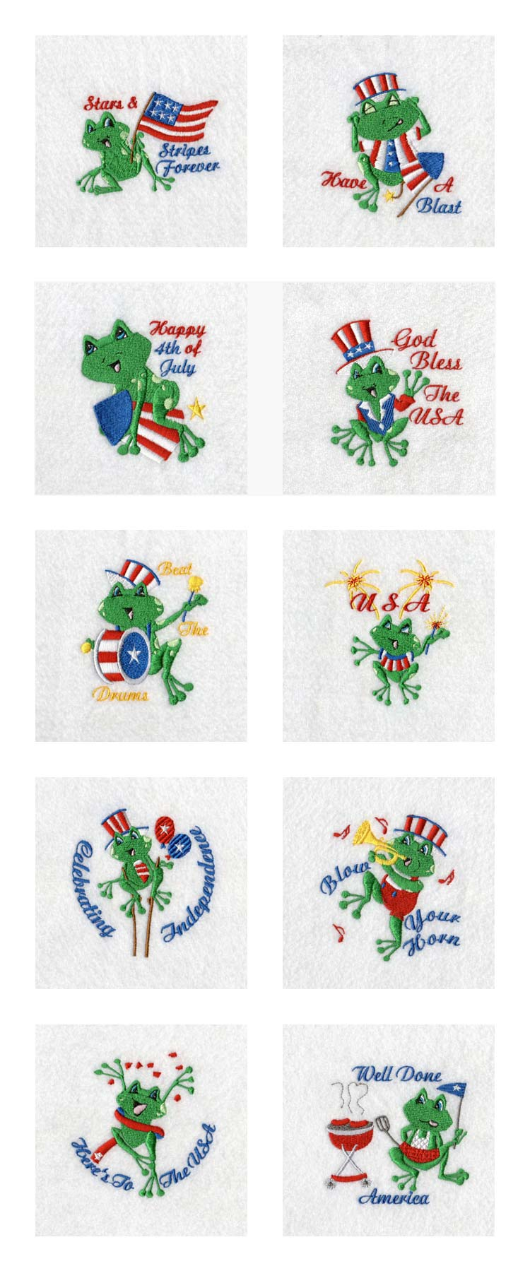 Free Patriotic Machine Embroidery Designs