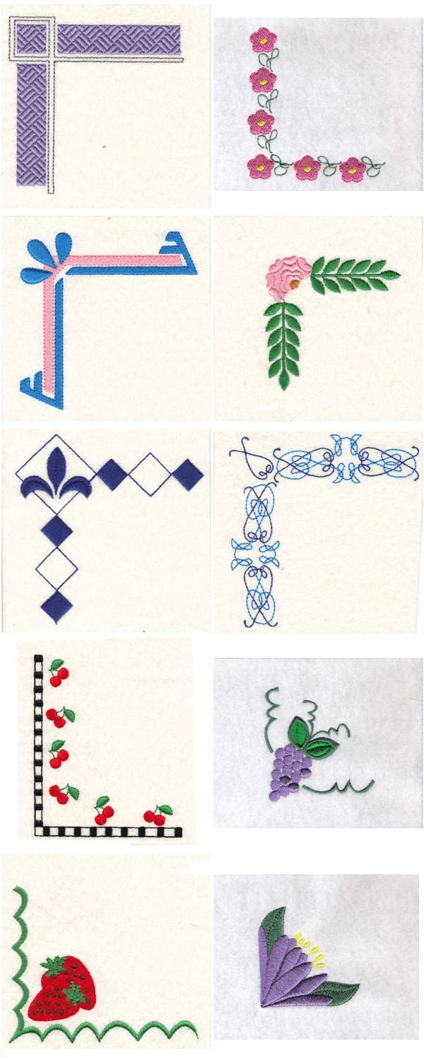Embroidery machine designs simple borders set
