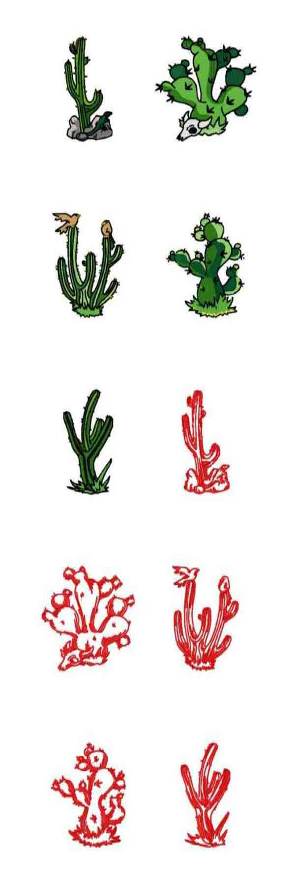 Embroidery machine designs dd western cactus set
